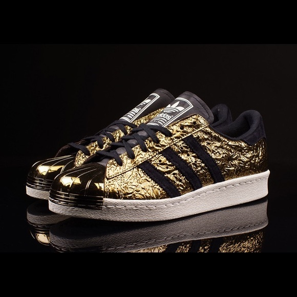 Le adidas superstar degli anni '80 la lamina d'oro poshmark metallo